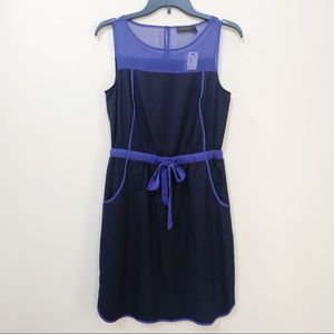 NWT The Limited Navy Blue Dress Tie Waist S